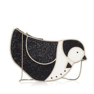kate spade clifton lane glitter penguin crossbody
